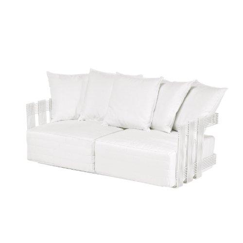 Intrecci Sofa 2-Sitzer weiß/inkl. 2 Sitzkissen/inkl. 5 Rückenkissen