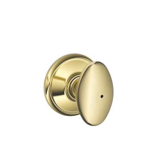 Schlage F40VSIE605 Siena Privacy Knob, Bright Brass