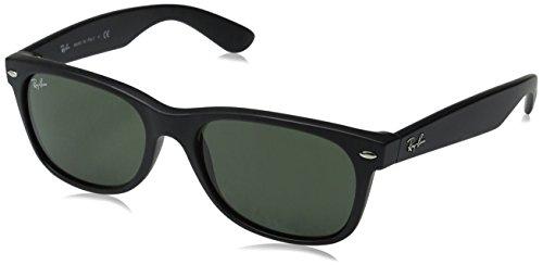 ray-ban-unisex-sonnenbrille-new-wayfarer-einfarbig-gr-medium-herstellergrosse-55-schwarz-black-rubbe