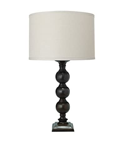 Jamie Young Company Luna Table Lamp With Medium Drum Shade, Chocolate