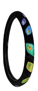 Peacock Steering Wheel Cover - Black