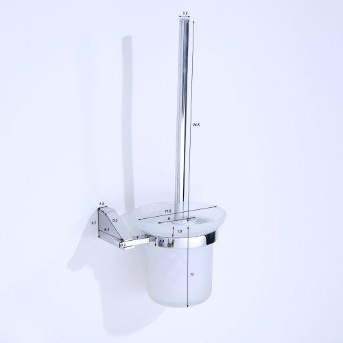 wc b rsten de toilettenb rste chrom wc b rste gl nzend wc garnitur mit glas schale und wandhalter. Black Bedroom Furniture Sets. Home Design Ideas