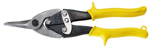 Klein Tools 1102S Aviation Snips - Straight Cutting, Yellow