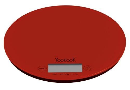 Yoocook YC73204 Balance de Cuisine Électronique Rond Rouge