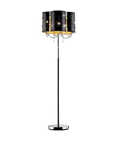 ORE International Starry Night 1-Light Floor Lamp, Black