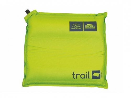 Highlander Outdoor Trail Self Inflate Pillow, Green