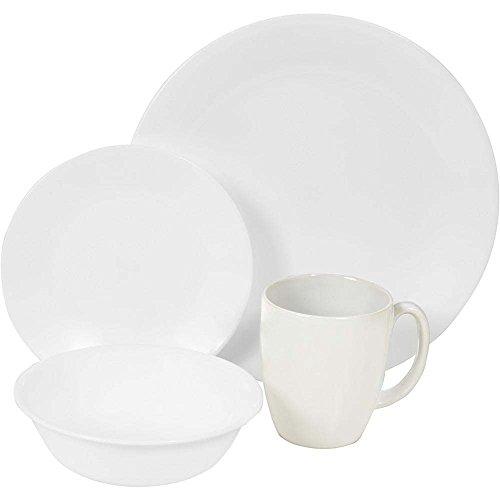 Corelle Livingware Winter Frost 16-Piece Dinnerware Set, Service For 4