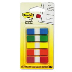 Post-it Flags, 1/2-Inch, Ideal For Marking And Flagging Paper Documents, Assorted Colors, 100 Flags per Dispenser (683-5CF)