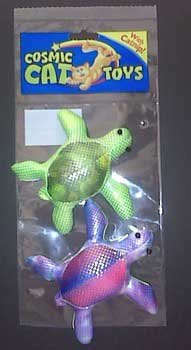 (Price/1)Silky Polly Pond Turtle Catnip Toy 2pk