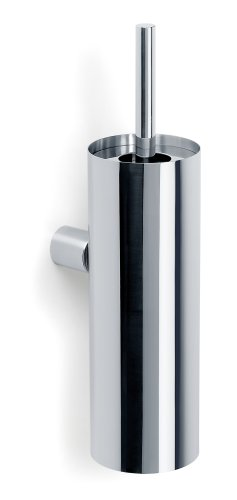 Wall mounted toilet brush - polished stainless steel