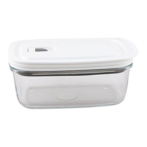Hi luxe premium borosilicate glass rectangle food for Decor 900ml container
