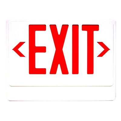 Royal Pacific RXL20RW Exit Sign with Remote Capability, White with Red Letters