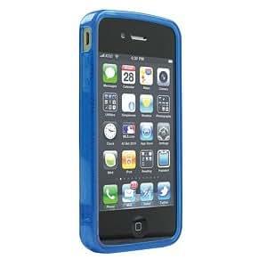 Ziotek ZT2150872 HC1 iPhone 4 Transparent TPU Case, Circle, Blue