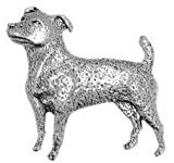 Pewter Pin Badge Dog Jack Russell