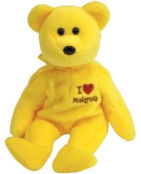 TY Beanie Baby - MALAYSIA the Bear (I Love Malaysia - Asia-Pacific Exclusive) - 1