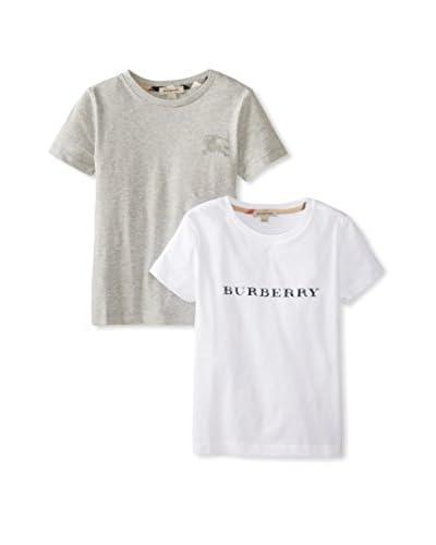 Burberry Kid's Tee 2 Pack  [White/Grey]