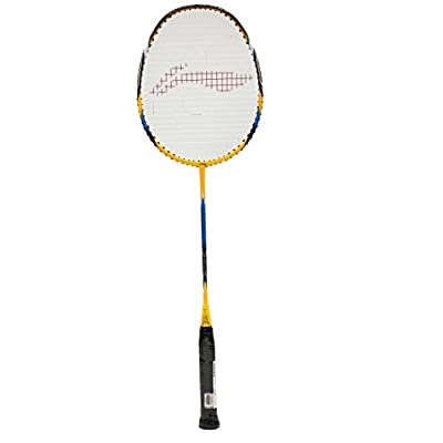 Li-Ning SS-20 Super Carbon Fiber Badminton Racquet, Size S2 (Yellow/Black)