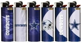 6pc Set BIC Dallas Cowboys NFL Officially Licensed Cigarette Lighters at Amazon.com