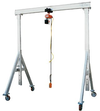 Bear Claw Adjustable Height Aluminum Gantry Crane; Capacity (LBS): 4,000; Beam Length: 12' ; Beam Height: 8
