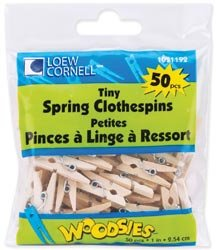 "Bulk Buy: Loew-Cornell Tiny Spring Clothespins 1"" 50/Pkg 1021192 (6-Pack)"