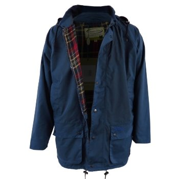 Mens Country Estate Navy Blenheim Waterproof Rain-Coat Mac Jacket