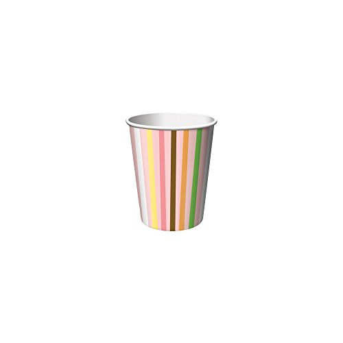 Creative Converting Unisex Adult Sweet Safari Pink 1st Birthday 9 oz. Paper Cups Pink Medium