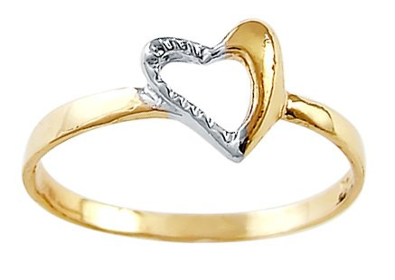 Right-Hand-Heart-Ring-14k-White-Yellow-Gold-Fashion-Band