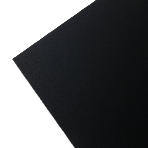 "Kydex T Sheet .080, 8"" X 12"" Thermoforming Material For Knife Sheath & Holster Making , P1 Haircell Texture, Calcutta Black"