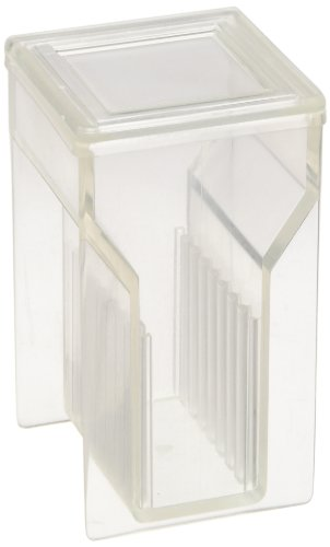Kartell 235305 Microscope Slide Staining Jar/Staining Dish With 2 Lids