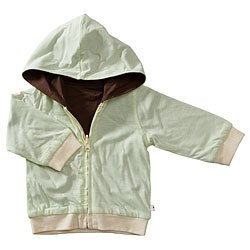 Baby Soy All-Natural Year-Round Reversible Hoodie - Tea/chocolate (12-24 Months)