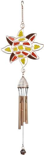 Red Carpet Studios 10944 24-Inch Copper Tunes Wind Chime, Mosaic Sun