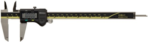 Mitutoyo ABSOLUTE 500-197-20 Digital Caliper, Stainless Steel, Battery Powered, Inch/Metric, 0-8