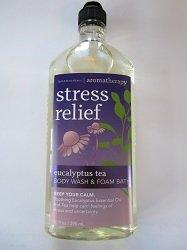 Bath & Body Works Aromatherapy Eucalyptus Tea Stress Relief Body Wash And Foam Bath 10 Oz