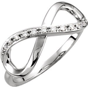 14kt Yellow .05 CTW Diamond Infinity Ring