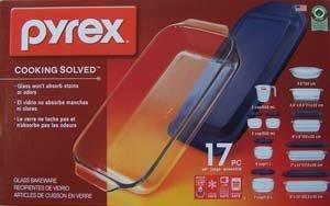 Pyrex Glass 17pc Bake Store Serve Set w/Lids