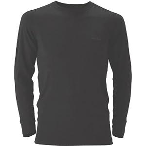 (モンベル)mont-bell スーパーメリノウール L.W.ラウンドネックシャツ Men\'s 1107263 BK ブラック L