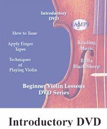 Violin Lessons - AMP - Introductory Beginner DVD with Fingering Tapes, 100% Satisfaction Guarantee