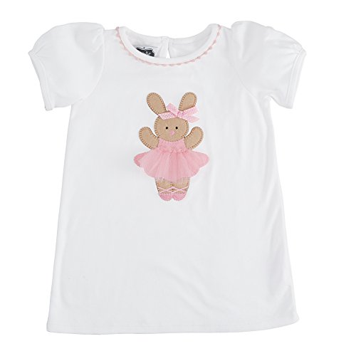 Mud Pie Easter Baby Toddler Girl Bunny Ballerina Tunic (Small 12-18 Months) (Mud Pie Easter Size 3t compare prices)