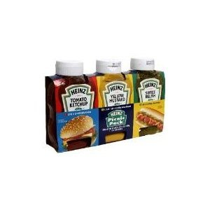 Heinz Picnic Multipack Ketchup Sweet Relish Yellow Mustard 37 oz Pack of 2