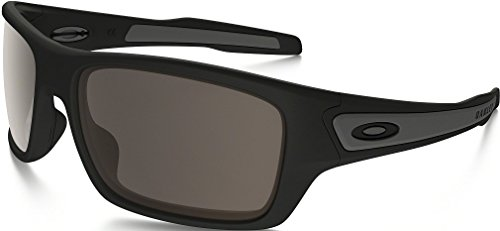 Oakley Men's Turbine OO9263-01 Rectangular Sunglasses, Matte Black, 65 mm