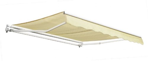 3.5m Budget Manual Awning, Ivory - Complete with Fittings and Winder Handle