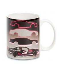 Dale Earnhardt Sr #3 NASCAR White Ceramic Coffee Mug