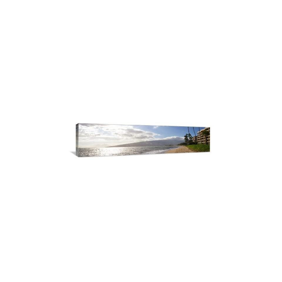 Deserted Beach Sunrise   Gallery Wrapped Canvas   Museum Quality  Size 4ft   48 x 12 by Artsy Canvas