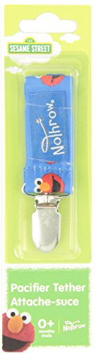 Petite Creations No Throw Sesame Street Pacifier Holder Elmo, Blue - 1