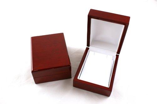 Premium Glossy Rosewood Veneer Wooden Pendant/Drop Earring Box - BDE9-RW
