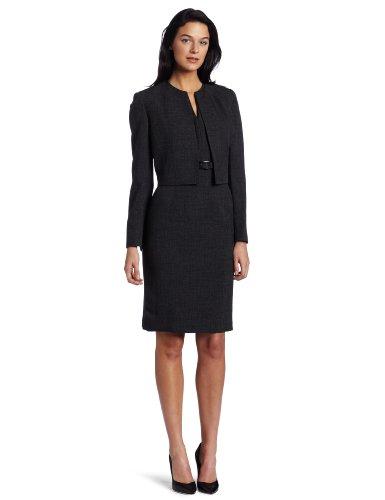 Kasper Women's Melange Jacket Suit Dress