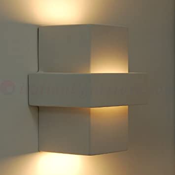 Applique lampada a parete design moderno gesso ceramica - Illuminazione interni design moderno ...