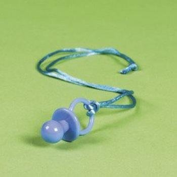 Blue Pacifier Necklace (6 dozen) - Bulk
