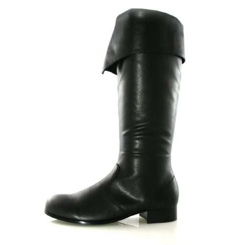 Deluxe Black Bernard Adult Pirate Boots - Size Fits Size 8-9