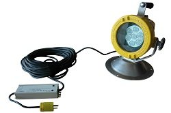 70 Watt Low Voltage Portable Explosion Proof Led Light - Magnetic Base - 150' Soow Cord - C1D1(-Floo